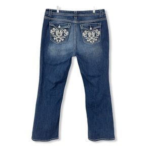 ANA Bootcut Jeans Blue Stretchy Pockets Boot Cut